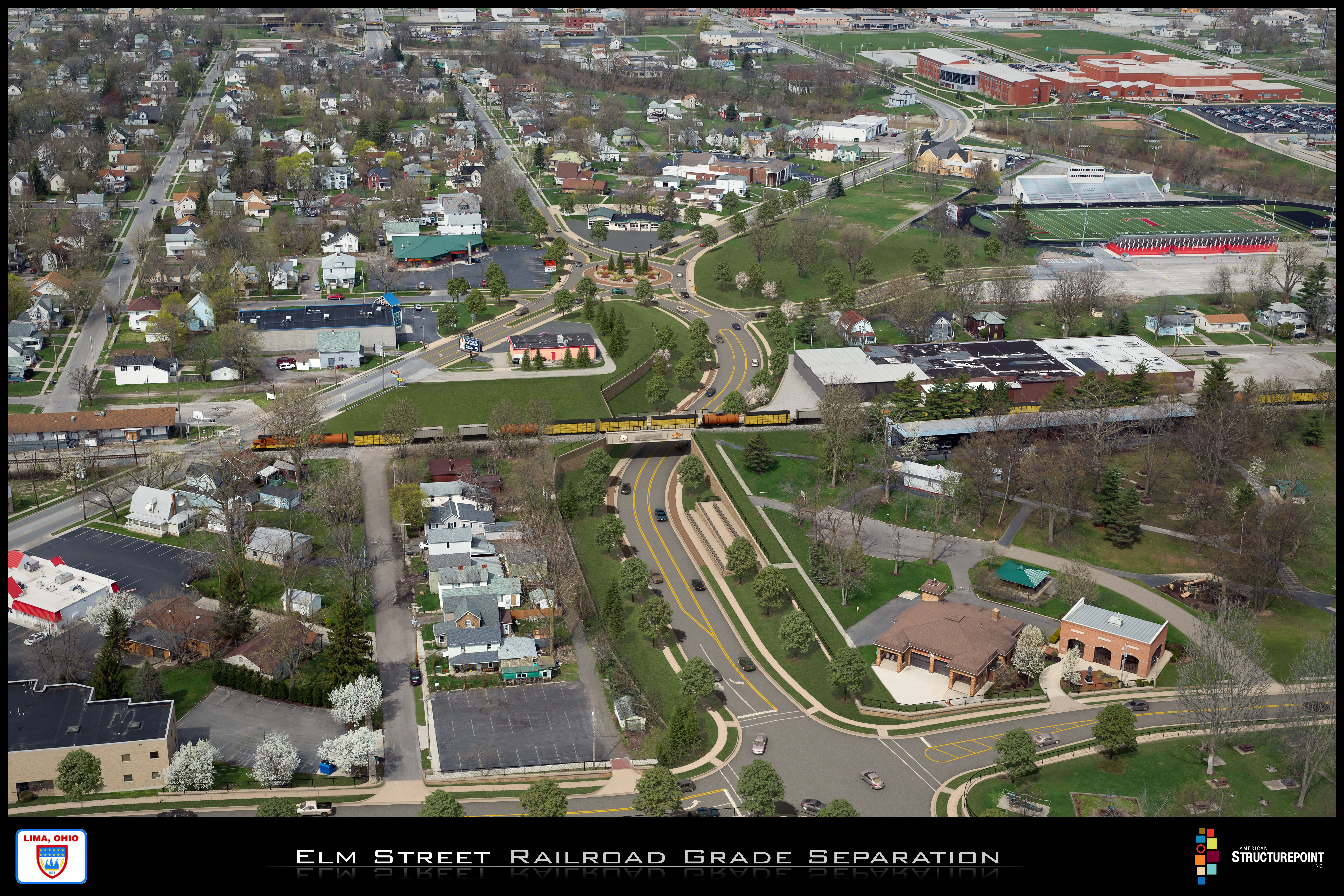 Concept of Elm Street Railroad Underpass